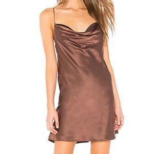 NWT Capulet X Revolve Rae Silk Mini Dress Mink XS